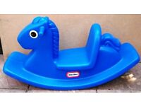 BLUE ROCKING HORSE BY LITTLE TIKES