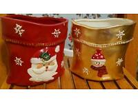 2 Christmas containers
