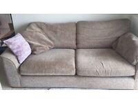Free double/single chenille sofa set