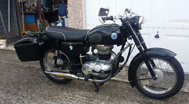 AJS model 14 Black + Cherished number plate + Accesories For Sale (1960)