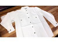 100% Cotton Shirts, Children's size 3-14 years, £2.00 each, White