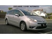 Citroen C4 Grand Picasso EXCLUSIVE 1.6 HDI Automatic , DIESEL , 7 seats