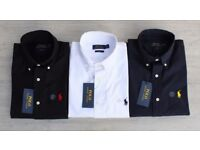 Ralph Lauren Slim fit Long Sleeve Formal Shirts 100% Genuine BNWT - M, L, XL - White, Black & Navy