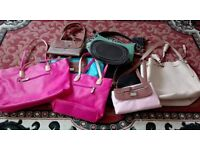 8x Ladies Leather Handbags and 7x USB Mobile chargers