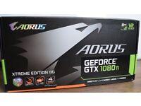 Nvidia Gigabyte AORUS GTX 1080 Ti WATERFORCE EXTREME 11 GB VR Liquid Cooling Video Card GPU
