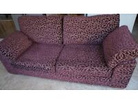 Large 3-seater M&S sofas (x2), patterned fabric. Extremely comfortable