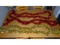 Christmas tree garlands