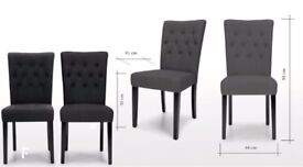 20 x Black Button Back Dining Chair with black wooden legs - Excellent condition