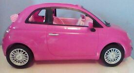 Barbie pink Fiat 500 Convertible