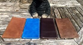Natural Full Grain Leather Handmade Pouch/Case/Cover for iPhone 6 Plus/6s Plus ONO