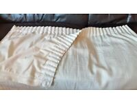 top quality(50% cotton)expensive(RRP £49.99) extra wide cream pencil pleat fully lined DOOR CURTAIN