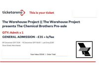 CHEMICAL BROTHERS~MANCHESTER~WAREHOUSE PROJECT~100% TRUSTED SELLER