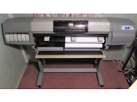 """HP DESIGNJET 5000 42"""" INCLUDING NEW CISS SYSTEM + MANY NEW INKS PRINTHEADS"""