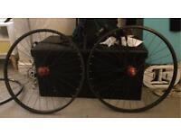 2 sets of retro 26 inch mountain bike wheels