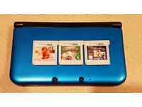 Nintendo 3DS XL with 3 games