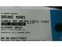 Bruno mars ticket in Glasgow