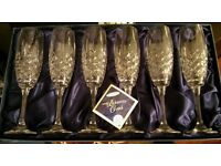 FREE Glasgow delivery-Brand new Bohemia(house of Frasers)Champagne glassesx6-Christmas!