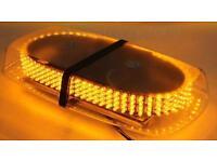 Brand New Amber 240 LEDs Emergency Beacon Light Warning Strobe Lamp With Bar Magnetic Base