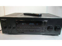 KENWOOD KR-V6080 5 Channel 100 Watt Audio Video Stereo Receiver & Remote