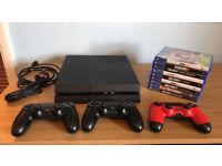 PS4 1TB + 3 CONTROLLERS + 9 GAMES (ALL MINT CONDITION)!!!!!