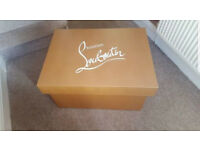 Designer Louboutin Large Storage Shoe Box New
