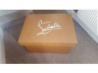 Designer Louboutin Large Storage Shoe Box Brand New