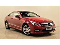 MERCEDES-BENZ E CLASS 2.1 E250 CDI BLUEEFFICIENCY SPORT 2d AUTO 204 BHP + SERVICE HISTORY (red) 2011