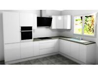 New full kitchen, gloss handleless inc delivery