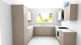 Full new shaker style kitchen, inc delivery
