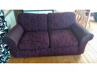 3 Seater & 2 Seater Marks & Spencers Purple Fabric Sofas