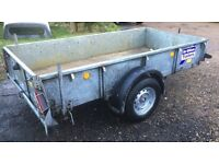 Ifor Williams 8x4 towing trailer 1400kgs,ideal gardener,building etc