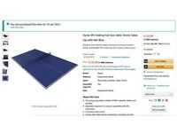 Brand new full size table tennis top (foldable)