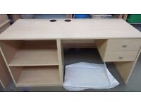 Stunning Modern Writing desk with 2 drawers and corner side shelves(Local deliver£5-£10)