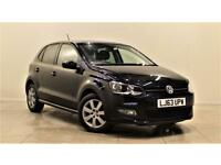 VOLKSWAGEN POLO 1.2 MATCH EDITION 5d 59 BHP + AIR CON + AUX CONNEC (black) 2013