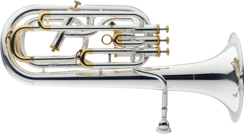 B-Baritone, (3+1), Silver Plated, IN Softcase