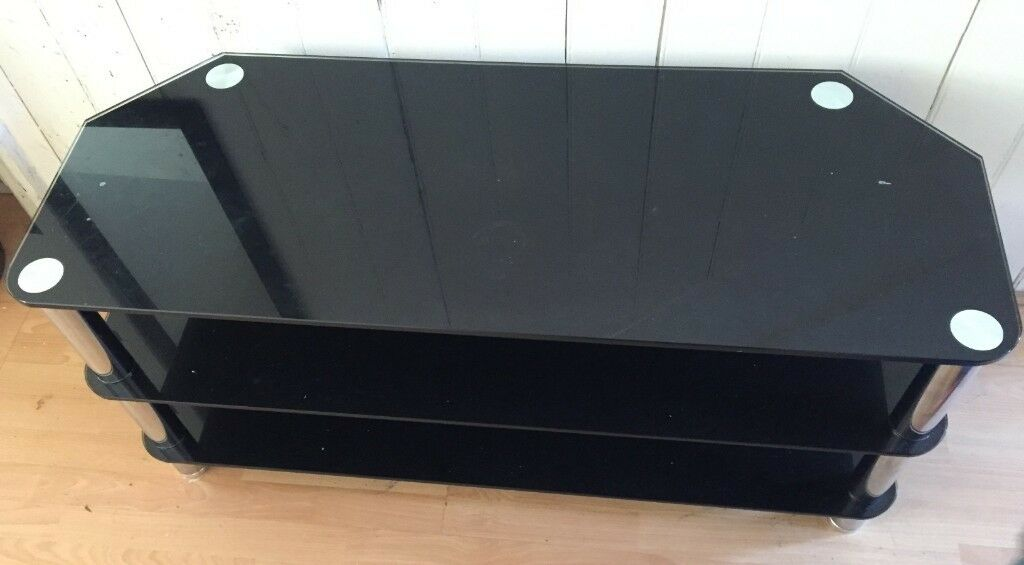 Black Glass Tv Stand Upto 50 Inches Tv In Fallowfield Manchester