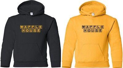 Waffle House Hooded Sweatshirt Vintage Logo Funny Cool Hoodie Coffee Hoody