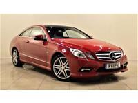 MERCEDES-BENZ E CLASS 2.1 E250 CDI BLUEEFFICIENCY SPORT 2d AUTO 204 BHP (red) 2011