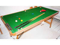 Snooker Table - 6 foot long - great for home use!