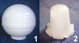 *** Stunning White Milk Glass Ceiling Light Shade/Globes - £30 each***