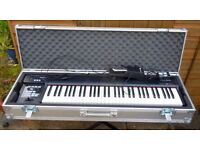 Roland RD 64 Electric Piano with full flight case, stand and pedal