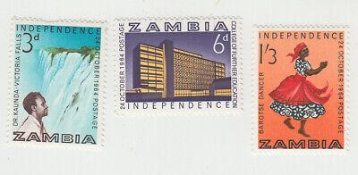 Zambia 3 x 1961 MNH