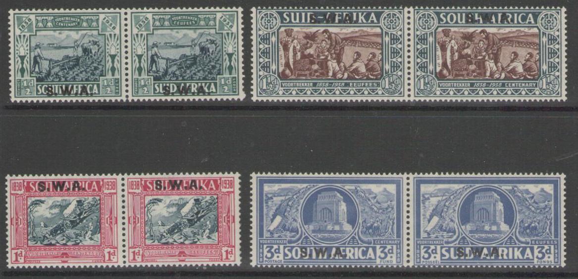 SOUTH WEST AFRICA SG105/8 1938 VOORTREKKER SET MTD MINT