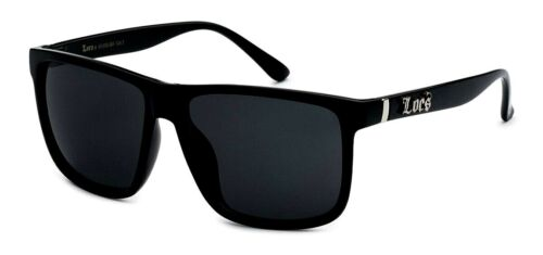 Locs Oversize Gangster Glasses Men Dark Lens Flat Top Large Black OG Sunglasses