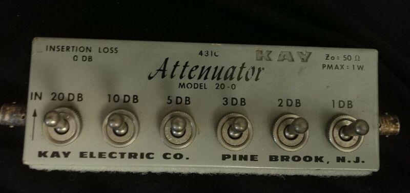 Vintage Attenuator Kay Model 20-0 431C Used