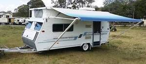 COROMAL 16ft CARAVAN AIR CON SINGLE BEDS ROLL OUT AWNING finance Burpengary Caboolture Area Preview