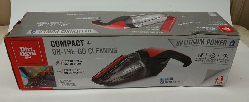 NOS Dirt Devil Compact + On-The-Go Cleaning Cordless Vacuum