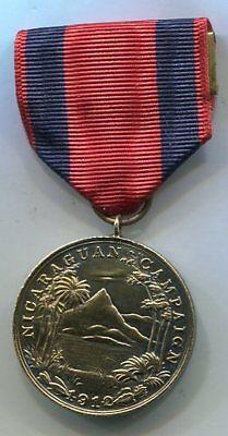 US Navy 1st NICARAGUAN CAMPAIGN Service Medal Vintage 'Studley' Thick Medal