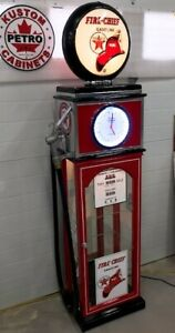 "TEXACO FIRE CHIEF ""CLOCK FACE"" GAS PUMP DISPLAY CABINET"