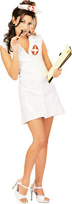 Naughty Dress Up Costumes (Naughty Nurse Doctor White Short Cute Dress Up Halloween Sexy Adult)